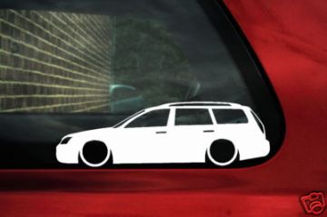 2x LOW Ford Mondeo mk3 ST220 Estate TDCi, Zetec, ST outline, Silhouette stickers, Decals